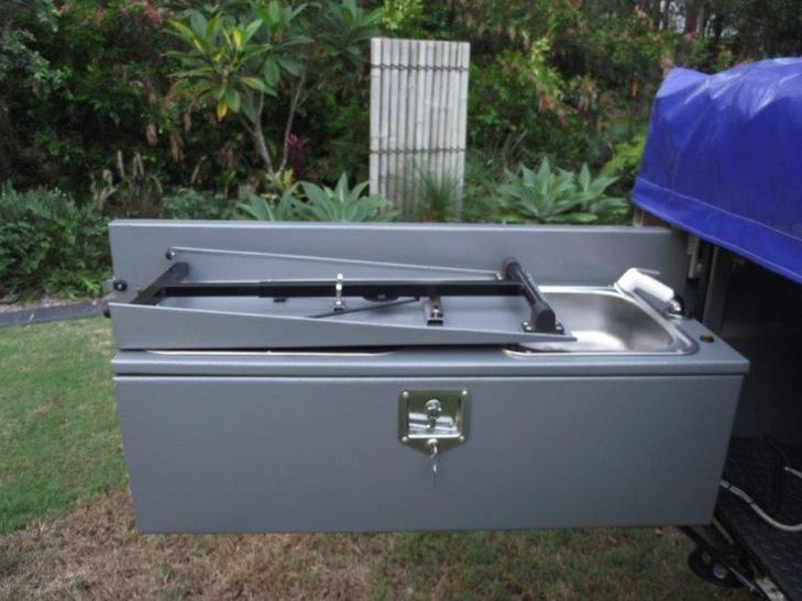 Compact tailgate kitchen