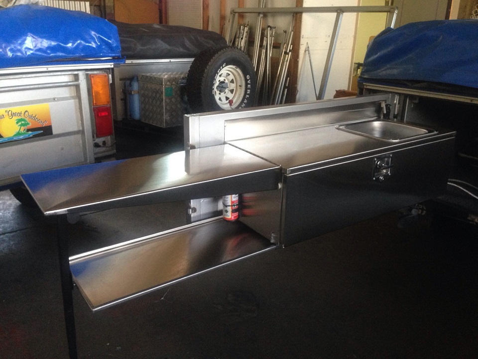 Stainless steel tailgate kitchens from $1,500
