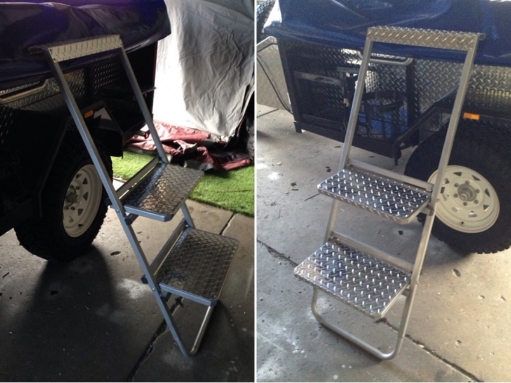 Custom made wide step ladder from $350