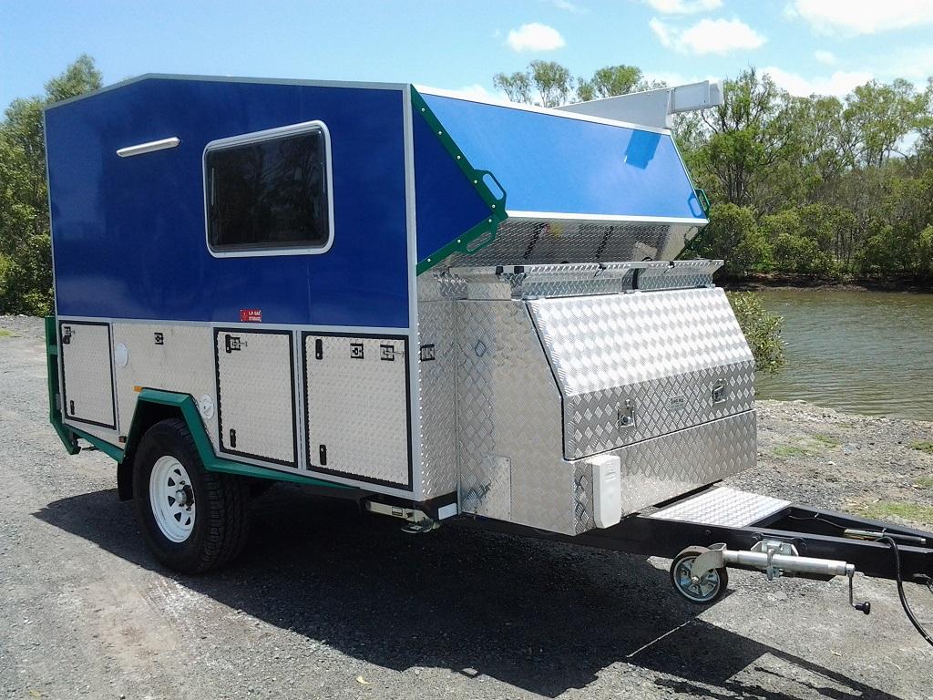 Buy Hybrid Camper Trailer Hard Top Kitchen Made In Brisbane