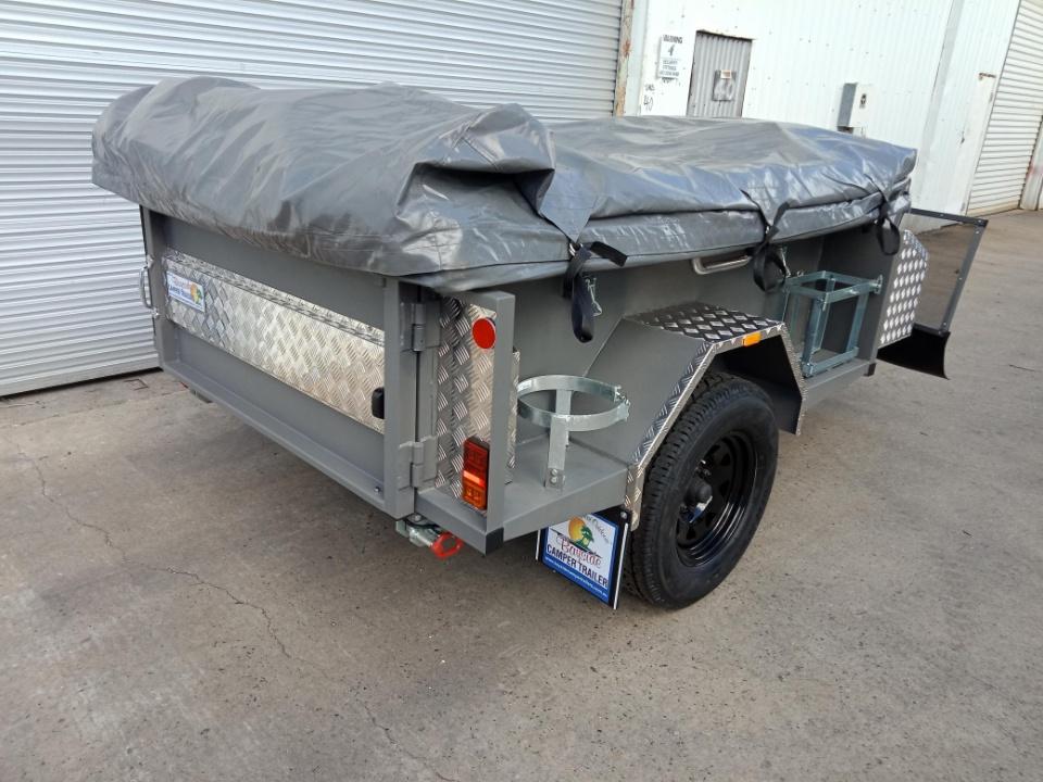 Custom made camper trailer rear