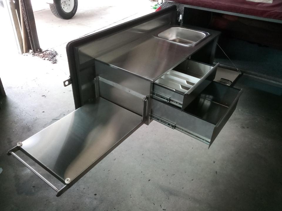 Stainless steel kitchen slideout custom made