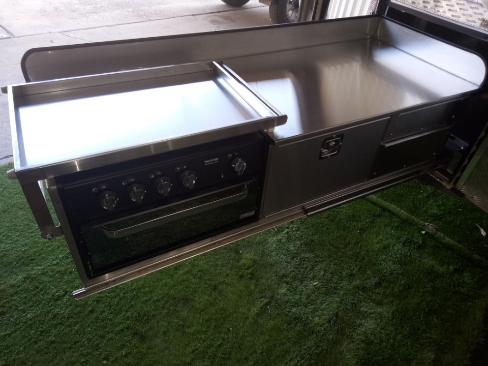 Stainless steel custom kitchen slide out