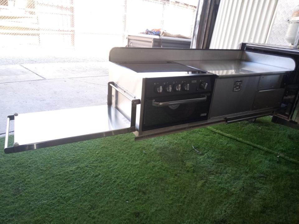 Custom built kitchen slideout