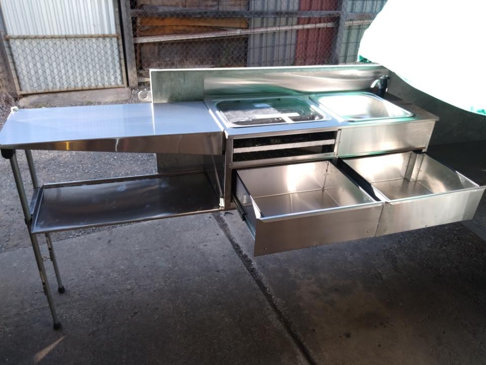 Custom built slide out kitchen