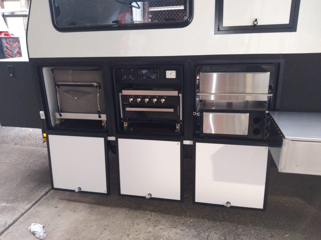 Custom hybrid swingaway kitchen