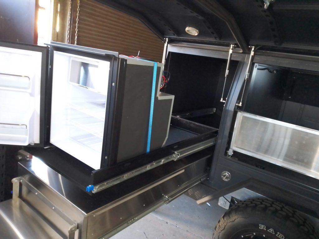 Kings camper custom fridge slide
