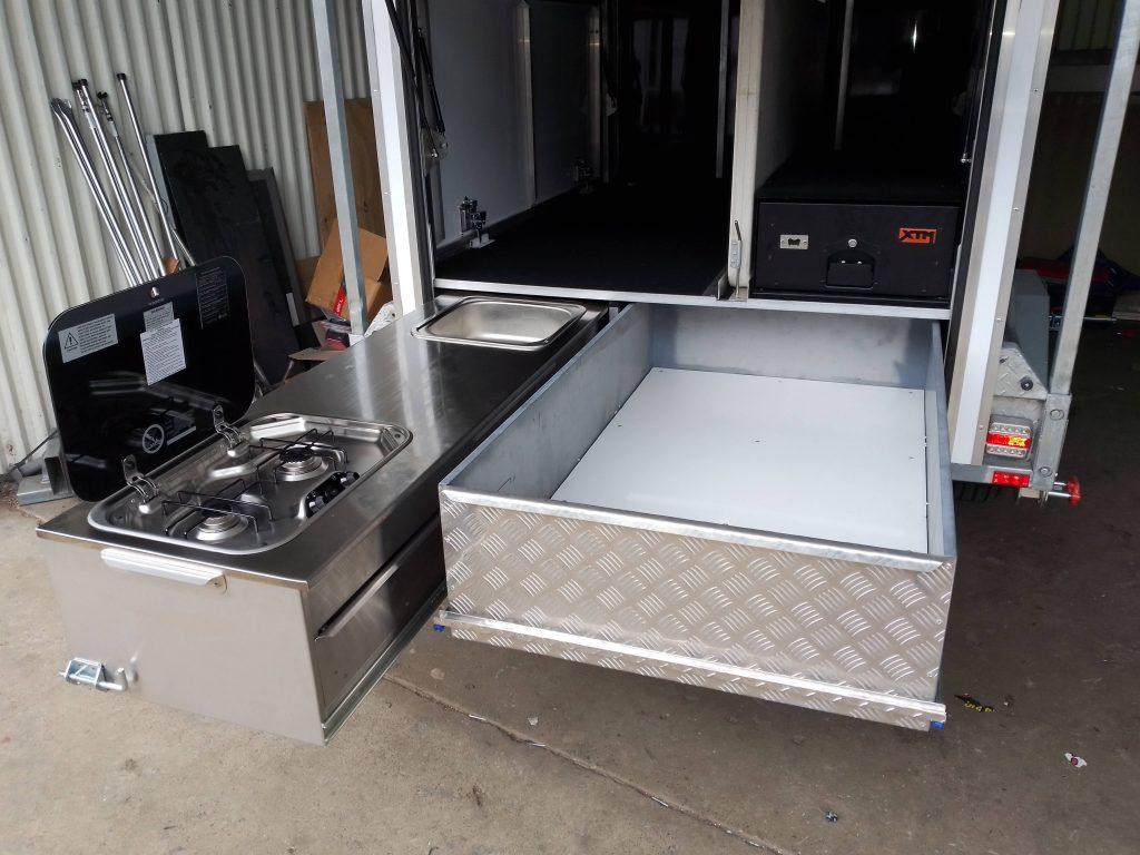 Kitchen 2 burner Smev cooktop sink stove